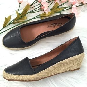 NEW • LUCKY BRAND • Canvas Black Wedges